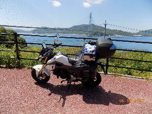 しまなみ海道50〜125ccツーリングキャンプ タビトさん みなさん こんにちは  5月4日尾道ビジホ泊、尾道大橋を出発し、島巡りをしながらしまなみ