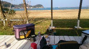 山口よりトコトコ走り隊 阿川海浜公園(ほうせんぐり?)でラーメンでした^^