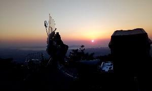 山口よりトコトコ走り隊 福岡県篠栗町若杉楽園キャンプ場までキャンツーしてきました(^^ゞ 夕日がとても綺麗で感動モノでしたよ