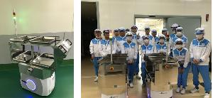4392 - FIG(株) 明治グループにもロボット採用されたしね  自らマップを作って動き回る自動搬送モバイルロボットAIV(