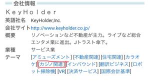 4712 - (株)KeyHolder 秋元×カジノ、充分ありだな w