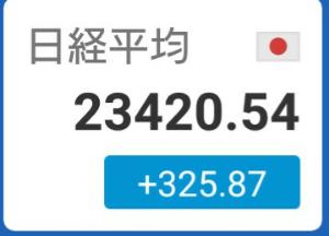 2130 - (株)メンバーズ 日経平均株価 2万3千4百円台まで上昇(^o^)/  市場では「海外の短期売買ファンドが株価指数先物