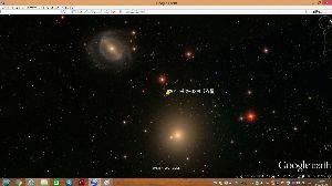 宇宙のひもを発見! きれいなおぼろです。