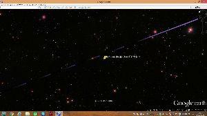 宇宙のひもを発見! 一定の間隔で画像が飛んでいます。