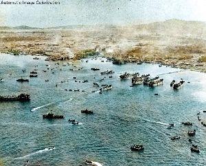 沖縄の株式銘柄と経済状況を話そう 沖縄本島に米軍が上陸した時の様子だそうです。
