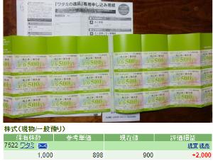 7522 - ワタミ(株) 12月1日から2021年5月31日まで有効の株主優待券12,000円分(500円券24枚)は今日届い