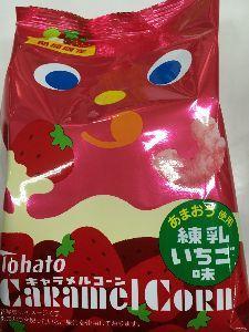 聖蹟桜ヶ丘のトピックをもう一度 京王ストアでキャラメルコーンの練乳イチゴ味を売っていました。 思わず買ってしまいましたよ。
