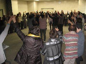 歌声喫茶in行橋 2018年1月度 74名の参加、盛会のうちに無事終了