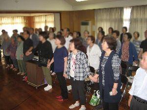 歌声喫茶in行橋 今日、18日は敬老の日、 地域イベントで、出張歌声  歌い、笑い、和やかな一時でした。