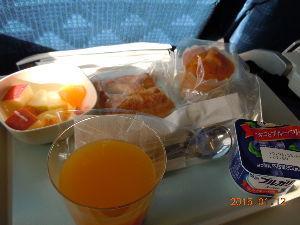 美味しいお店 大韓航空機の機内食♪