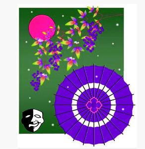 ガラスの花 あれからの、家に帰る途中に転んで、怪我をしてしまったのじゃよ 療養中に仮面の男も、姥桜さんの絵に色付