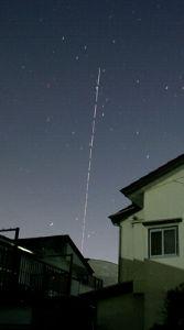 国際宇宙船ISS 7月11日参院議員選挙終了の午前2時の大西宇宙飛行士が乗った国際宇宙船ISS 真上から北西に向かい落