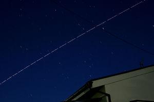 国際宇宙船ISS 今朝は大西宇宙飛行士が乗った国際宇宙船ISSを初めて写しました、これから4か月間宇宙に滞在しますがご