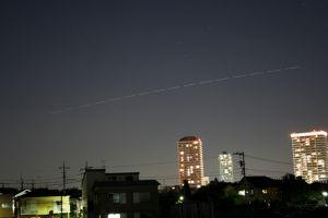 国際宇宙船ISS 大泉学園駅上空を行くISS