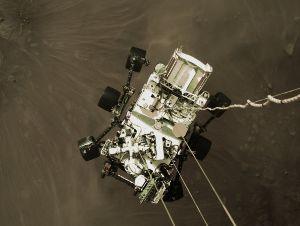 株価に影響することはなんですか ロケットのクレードルから見た火星に着陸する直前のパーサヴィアランス