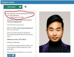 韓国人よ、現実を理解せよ!  これでは、IPHONEの顔認証が使えませんねw   アジア系NZ男性、目を閉じた写真と判定されパス