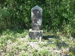 *** ディジカメ散歩 *** 「ぼろ石山の近くの馬頭観音の石碑」です。  皆さん、  こんばんは。  ーー 「ぼろ石山の近くの馬頭