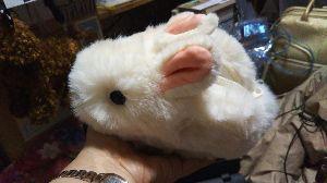思想鳥とキッチンスケール♪ 昨日は、待ちに待った白ウサギの もこもこポーチが届いた。(///∇///)  大事に大事