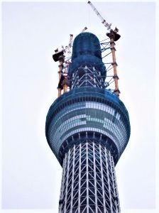 How about writing in English about your everyday things? Construction site of sky tree 8 years ago (No.2) b
