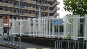 6628 - オンキヨー(株) ONKYOの看板も 以前あった土地、社屋は、スーパー平和堂、住宅などが建っています