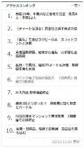 4348 - インフォコム(株) この記事、台風関連のニュースが多い中 日経の総合アクセスランキングの6位に入ってるからかなり注目度は