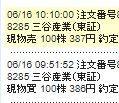 8285 - 三谷産業(株) 再度386円で100株買えましたので387円の高価格で売れてよかったです。 寄り付きの386円と途中
