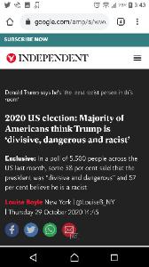 ^DJI - NYダウ 世論調査で57%がトランプを差別主義者と言ってます。黒人に限定すると80%です。