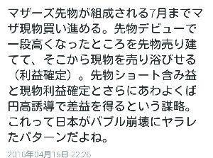 Noёlの徒然日記 おは☀  なんかマザーズが強かったなぁ  …で、 Twitterで↓こんな呟
