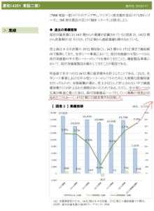 4251 - 恵和(株) それも踏まえて、恵和に期待してるんですよ。 進捗率とか、業績の延び方とか、数値として現れてるから、ボ
