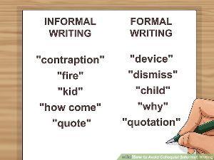 英借文の練習 How to Avoid Colloquial (Informal) Writing  We may