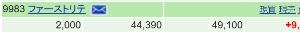 9983 - (株)ファーストリテイリング 4割売って2000株にポジ縮小 引け後の月次が3月なみに良かったら失敗だが 春夏物売れたから3月良か