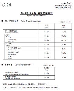 8252 - (株)丸井グループ ~2018年6月期の月次営業概況をお送りいたします。~  だそうですぅ。  ■ 概況 6月のグループ