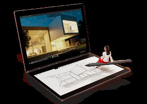 6727 - (株)ワコム Yoga Book C930 デュアルディスプレイのマルチモードモバイル ・薄型軽量ボディーで持ち運