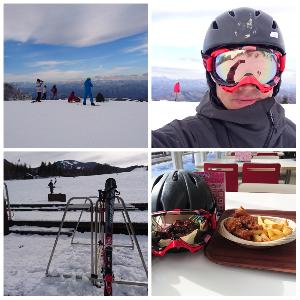 オヤジをスキーに連れてって♪ 平日のハンタマは空いててサイコーたよ。😉✌