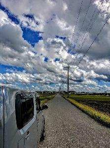関東 バイク乗りの写真館 ( ´∀` )b こんにちは~✨  お昼休みのフォトf(^_^;  くつくつ...くつくつ...  遠くに行きたい気持
