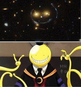 勝手に、ギリシャ神話・・! NASA(米航空宇宙局)と EAS(欧州宇宙機関)が、 宇宙に浮かぶ  「スマイル」 の画像を公開し