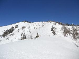 名古屋発 山旅 募集中 ♪ 宮本さんと南信州の大川入山に行ってきました。 スノーシューとワカンでハイク、 青空と白いアルプスの冠