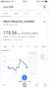 WYNN - ウィン・リゾーツ スティーブが売りに出してるとは思わなんだ。 会長は激怒してるのか?コメントをお聞かせ願い。