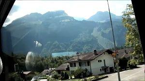 2012年ヨーロッパの田舎の旅 1 続き   汽車でInterlaken Westから(→Interlaken Ost&rar