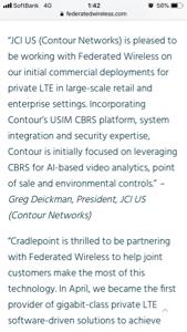 9424 - 日本通信(株) CBRS Allianceの新しい記事面白いわ。 日本通信の米社長のコメントが載ってる。 やっとCB