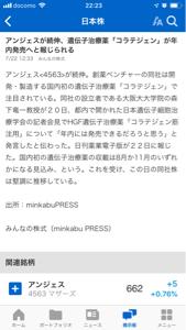4563 - アンジェス(株) とにかく、上がるよ。 間違いない3000円でしょう