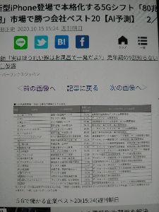 6778 - (株)アルチザネットワークス こんばんは🥰✌️  10月15日 週刊朝日 市場で勝つベスト20(AI)予測  アルチザネットワーク