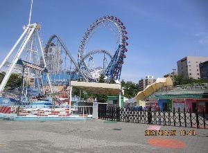 9681 - (株)東京ドーム シマらいおんさん  4/25日曜、アトラクションズは閉まっていて、誰もいません。