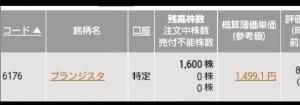 6176 - (株)ブランジスタ よく考えると❗  場中に出る【売り】を自己株買付が吸収していると言うことも有り得る❗  アラル海の現