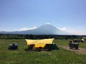 丹波市発 >ツーリングお爺さんを募集しております.  富士山麓キャンプツ-に行って参りました。 先週の土曜日から日曜日に、老体に鞭打ってかっ飛ばしてきま
