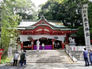 6143 - (株)ソディック ここがお父さんになれるように暴落祈願でごわす☝️  伊豆山神社でもお参りいたしもした😅  ぷっ!(*
