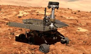 Let'sPensées![Aria] >そよ風にのって  一方、火星探査機「オポチュニティ」君は砂塵でソーラーが使えず、現在冬眠状態。 2
