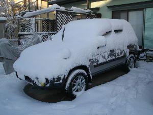 千葉県内~関東…一緒に走りましょう!!Ⅱ ぴこりんさん  先日の雪!!こんな具合でしたよー!  明日もかなー?