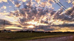 千葉県内~関東…一緒に走りましょう!!Ⅱ おはよう!良い天気だす!  先日こんな夕焼けが・・・
