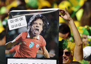 竜党の《サッカー雑談部屋》\(`O´θ/キック!  サッカーのワールドカップ(W杯)ブラジル大会で、英ロックバンド・ローリング・ストーンズのミック・ジ